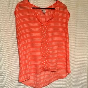 NWOT Cute slouchy high low blouse